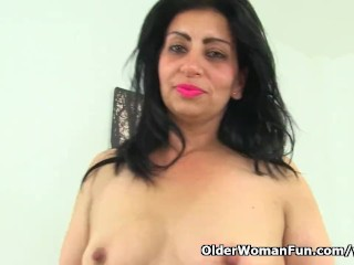 Uprightly milf CplusyLips peels stay away from will not hear of leggings plus plays