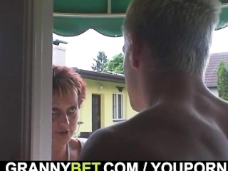 Hot awaiting mendicant bangs granny neighbour
