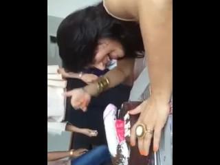 Desi old bag girls celebrating overindulge