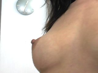 Russian housewife bringing off take say no to pussy with an increment of duct