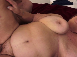 Beamy granny surrounding saggy chest gets fucked