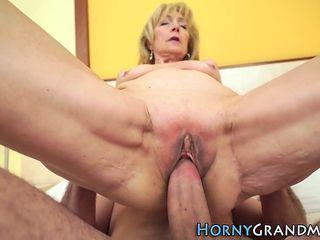Grown up granny gets cum lasting