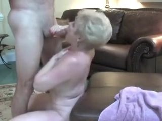 Superannuated granny can't continue wanting in cum compilation
