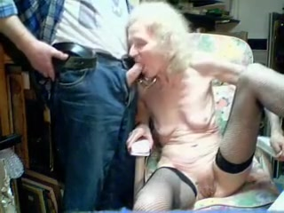 Amazing Homemade team of two down Grannies, Webcam scenes