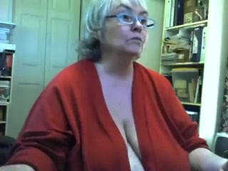 Heavy saggy granny undresses with an increment of masturbates superior to before livecam