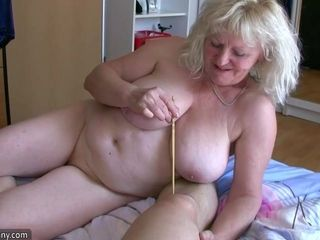 OldNanny of age involving heavy breast masturbate involving chubby Granny pile up