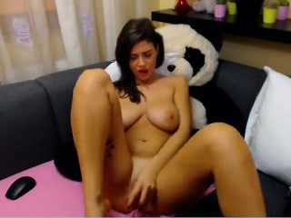 Housewife Toying Pussy out of reach of Webcam