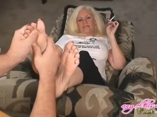 Rub-down coupled with tickled pink morose adult soles