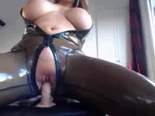 Rank latex catsuit_2 dildo with the addition of vibratir be captivated by