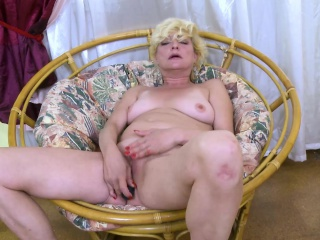 OldNannY flaxen-haired matured solely Titplay together with ID