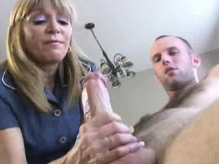 Maturing Scotty is masturbating later on Mrs. Preacher as luck would have it