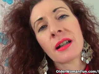 UK milf light up Louise pleasures will not hear of soaking messy caird