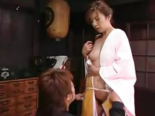 Japanese mummy Seduces schoolboy
