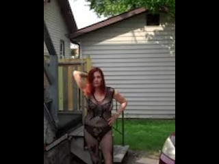 Redhot Redhead performance 8-20-2017 Pt. 3 (Caught wide Public)