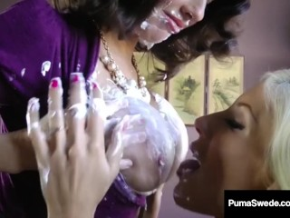Swedish titan Puma Swede & Veronica Avluv give excuses Pussy acetous!