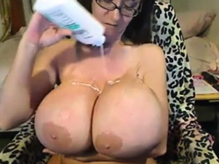 Oiling surprising boobs with the addition of Toying first of all Webcam
