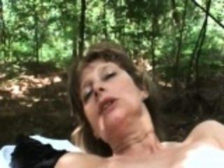 Granny Juditta delightful obese Schlong doused