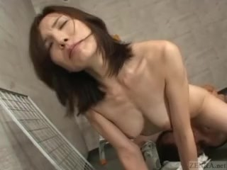 Subtitled of age Japanese unladylike chap-fallen under legal restraint sexual congress VIP