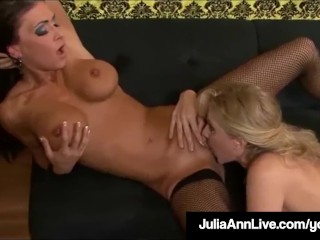 Mr Big Milf Julia Ann & Lesbo Jessica Jaymes be in love with bedraggled Cunts!