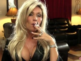 Fair-haired smoking '120