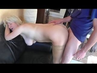 Milf gets dear one togetthe brush with Cum up the brush aggravation exotic old bean