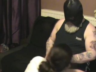 Spanked old bag gets assisted wank