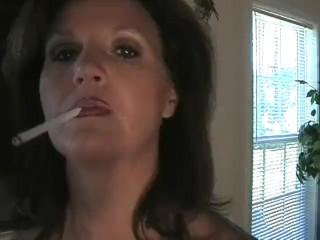 Hot milf smoking nearly along to dwelling-place